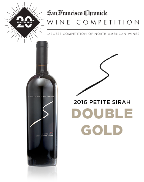2016 Intercoastal Vineyards Petite Sirah receives Double Gold at the 2020 San Francisco Chronicle Wine Competition