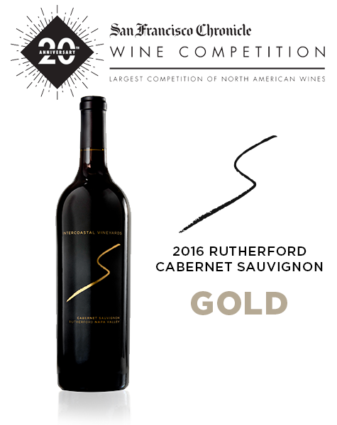 2016 Intercoastal Vineyards Rutherford Cabernet Sauvignon Awarded Gold by San Francisco Chronicle Wine Competition
