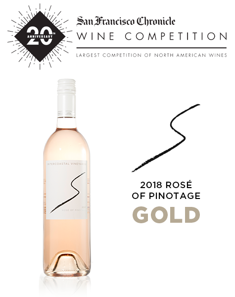 2018 Intercoastal Rosé of Pinotage gets Gold at SF Chronicle Wine Competition