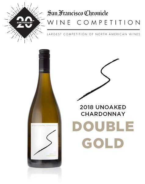 2018 Intercoastal Vineyards Unoaked Chardonnay wins Double Gold at San Francisco Chronicle Wine Competition