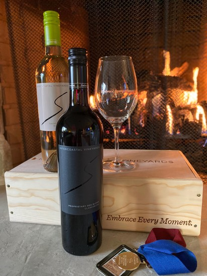 Picture of Intercoastal Wines by fireplace